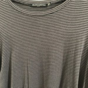Brandy Melville striped crop top one size small